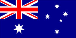 Hire Australian Flag - large stage prop set background